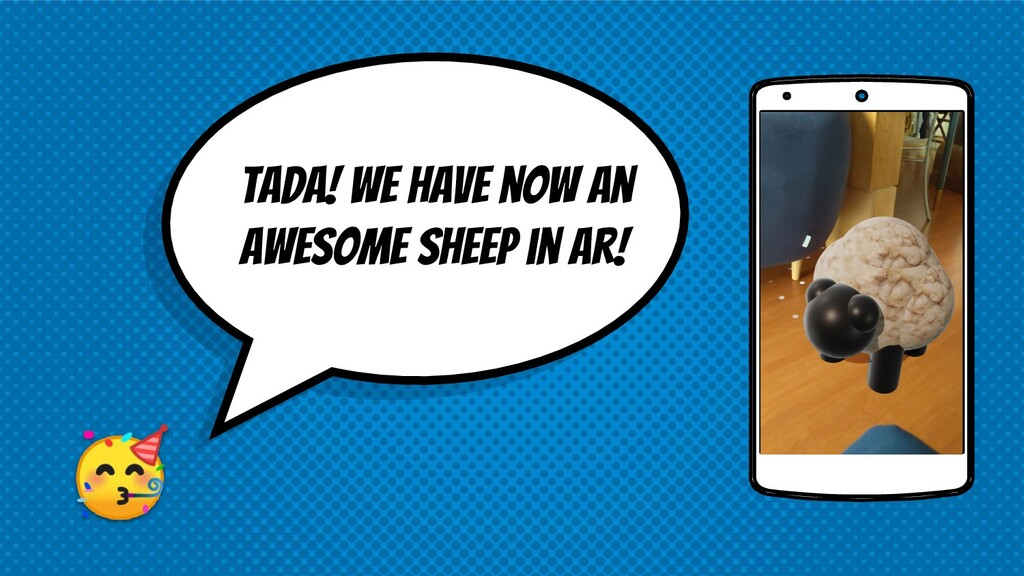 tada! We have now an awesome sheep in ar!