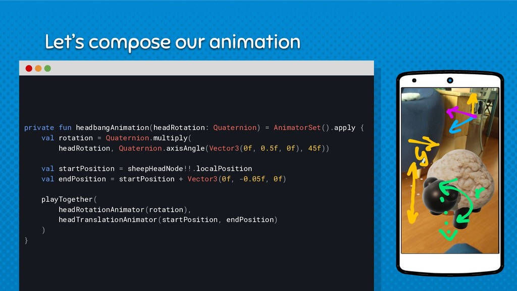 Let's compose our animation private fun headban...