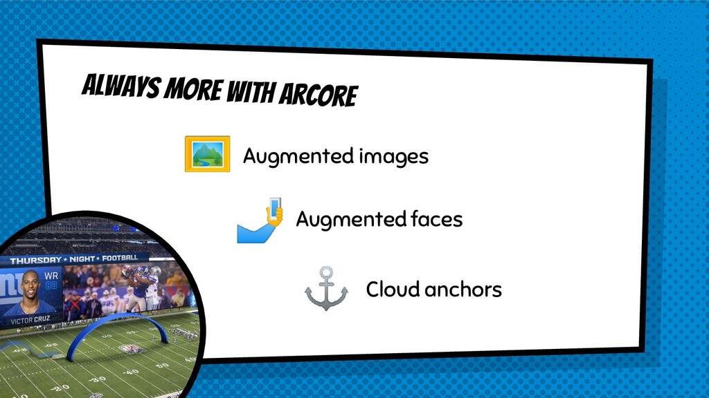Always more with arcore Augmented images Augmen...