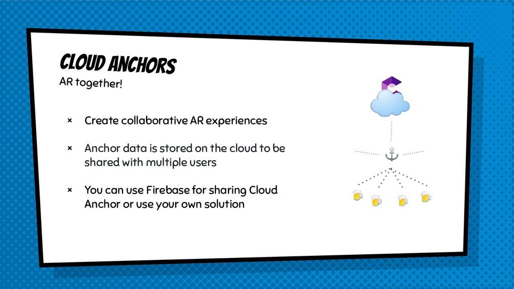 × Create collaborative AR experiences × Anchor ...