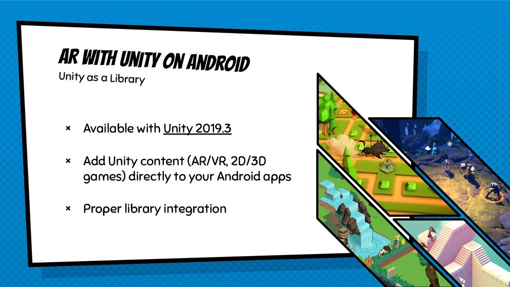 AR with Unity on Android Unity as a Library × A...