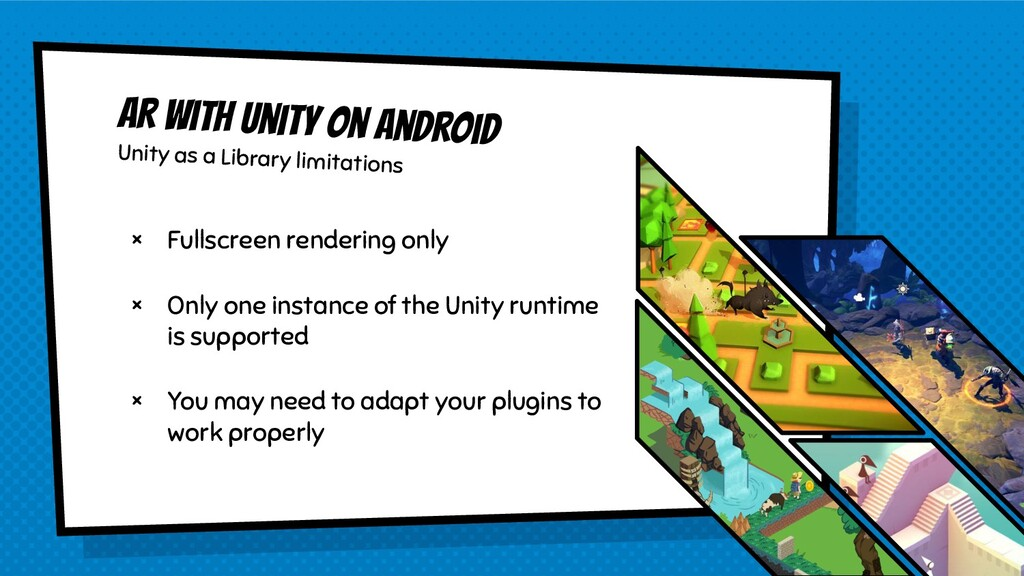 AR with Unity on Android Unity as a Library lim...