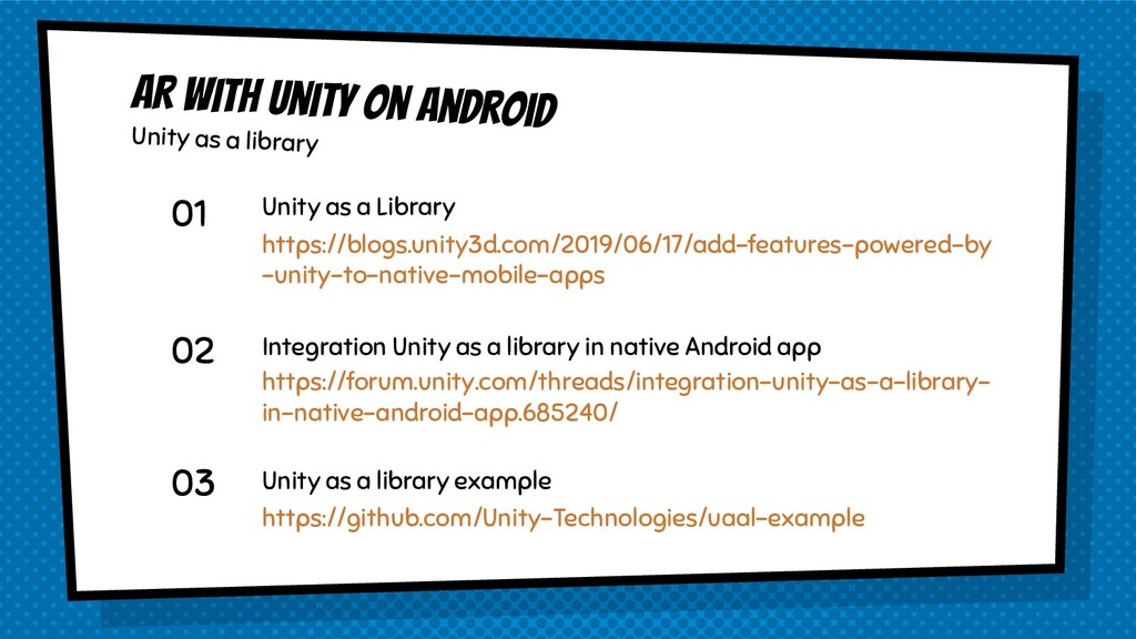 AR with Unity on Android Unity as a library 01 ...