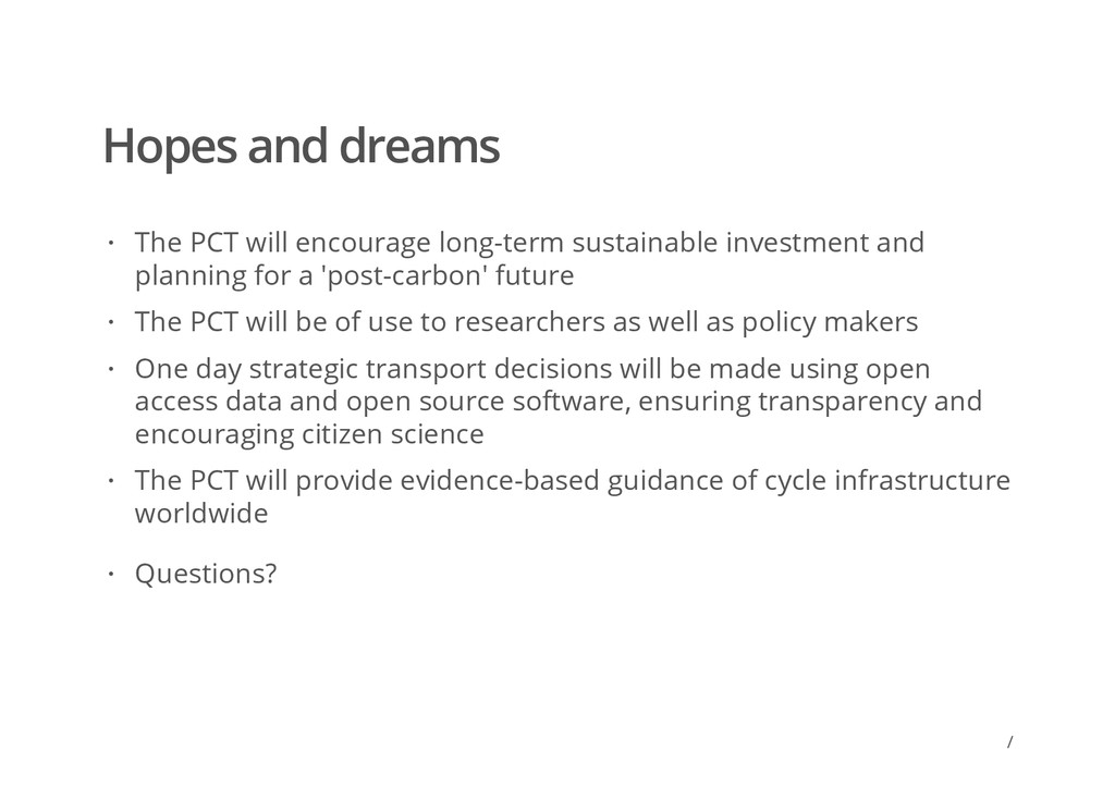 / Hopes and dreams The PCT will encourage long-...
