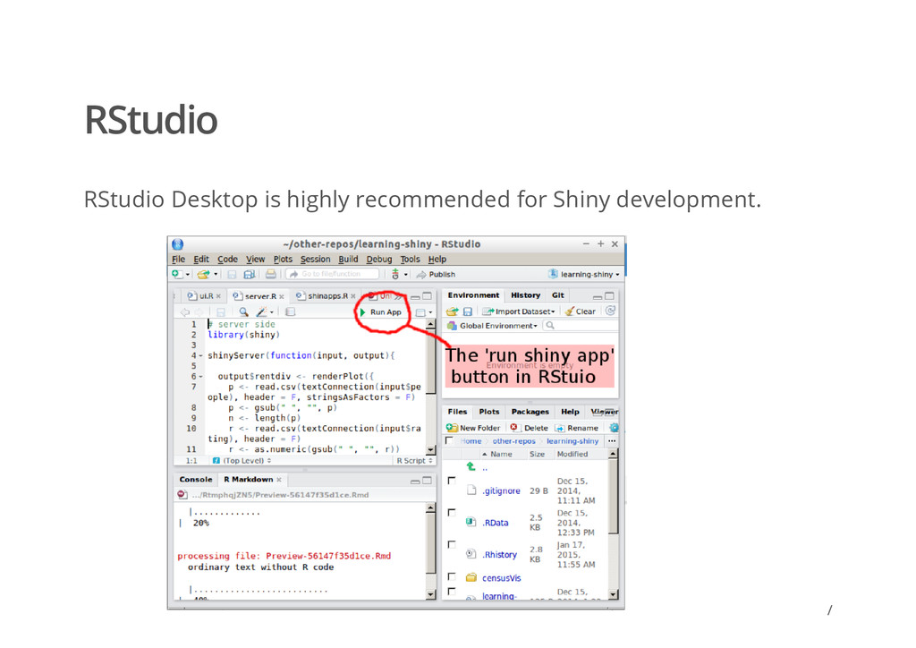 / RStudio RStudio Desktop is highly recommended...