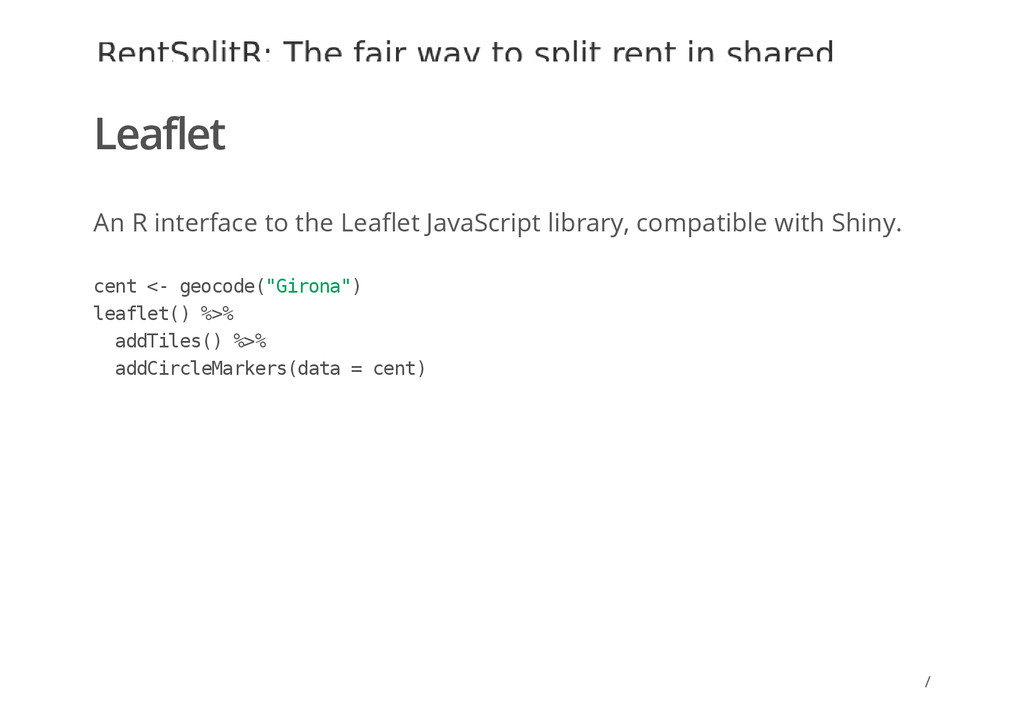 / Leaflet An R interface to the Leaflet JavaScr...