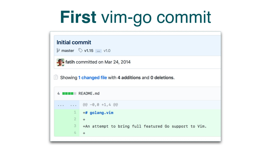 First vim-go commit