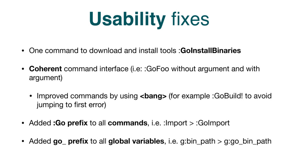 Usability fixes • One command to download and in...