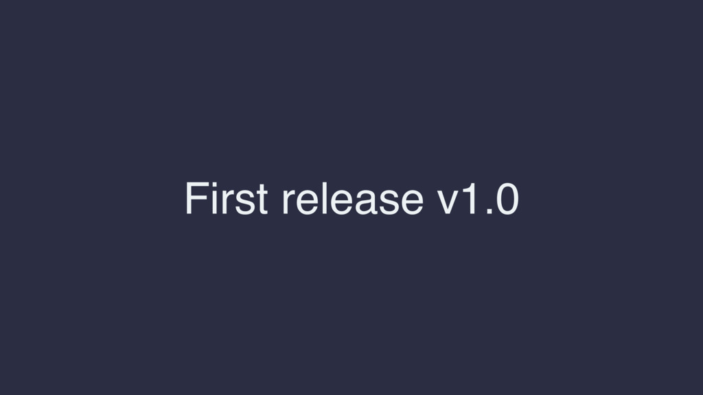 First release v1.0