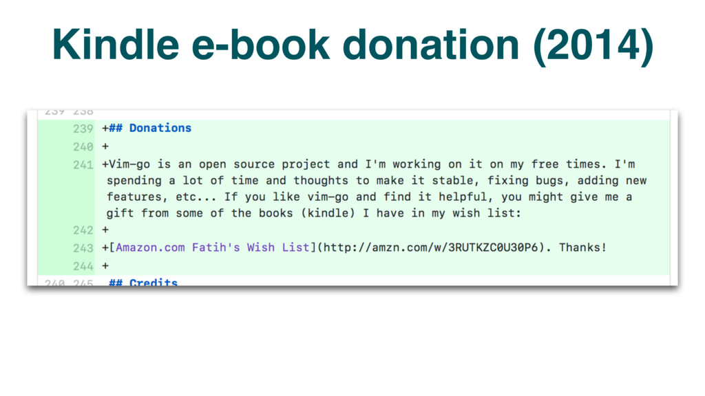 Kindle e-book donation (2014)