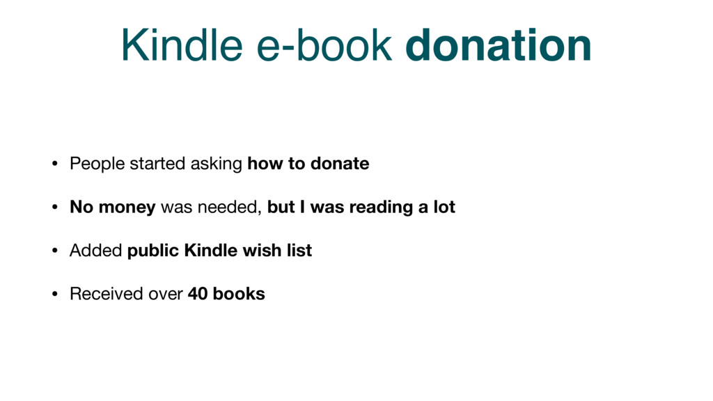 Kindle e-book donation • People started asking ...