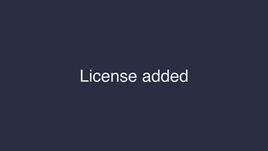 License added