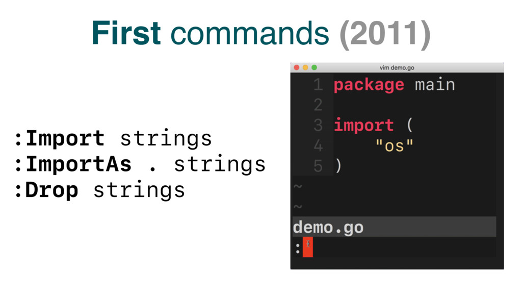 First commands (2011) :Import strings :ImportAs...