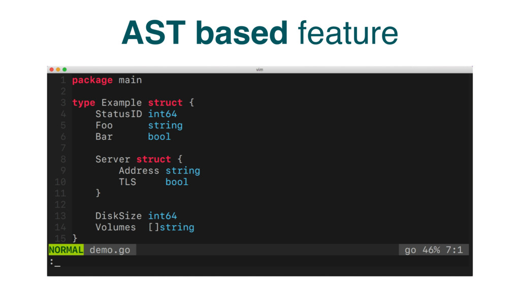 AST based feature
