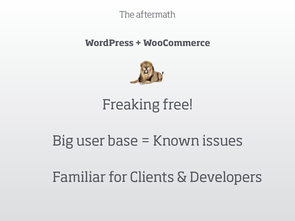 The aftermath WordPress + WooCommerce Freaking ...