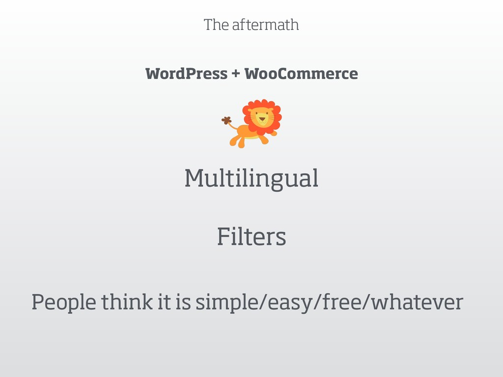 The aftermath WordPress + WooCommerce Multiling...