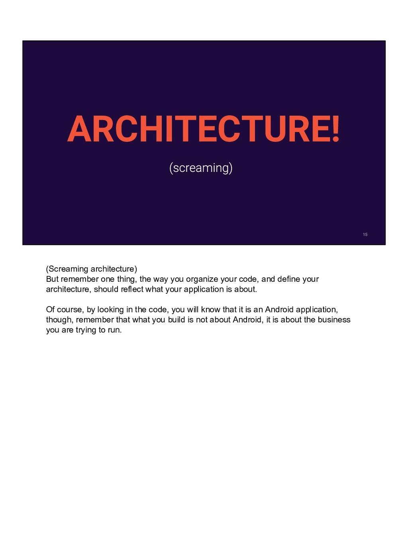 ARCHITECTURE! (Screaming architecture) But reme...