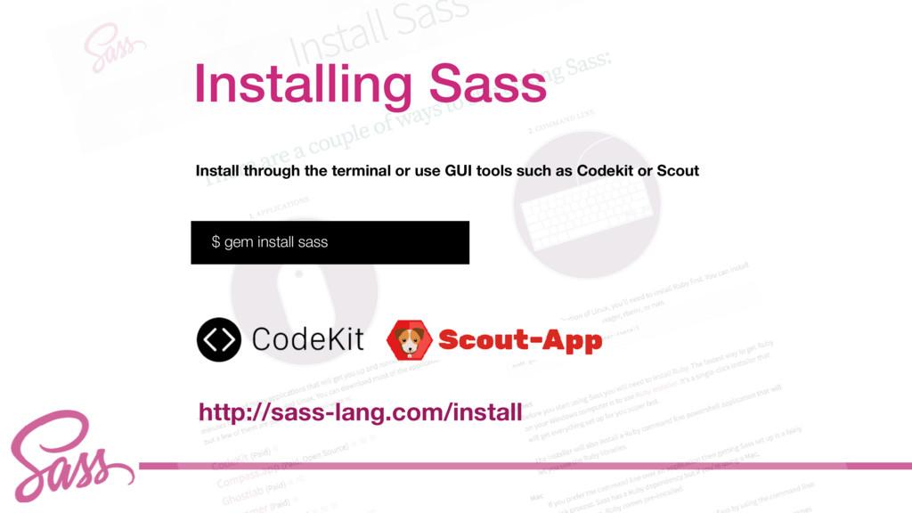 cv Install through the terminal or use GUI tool...