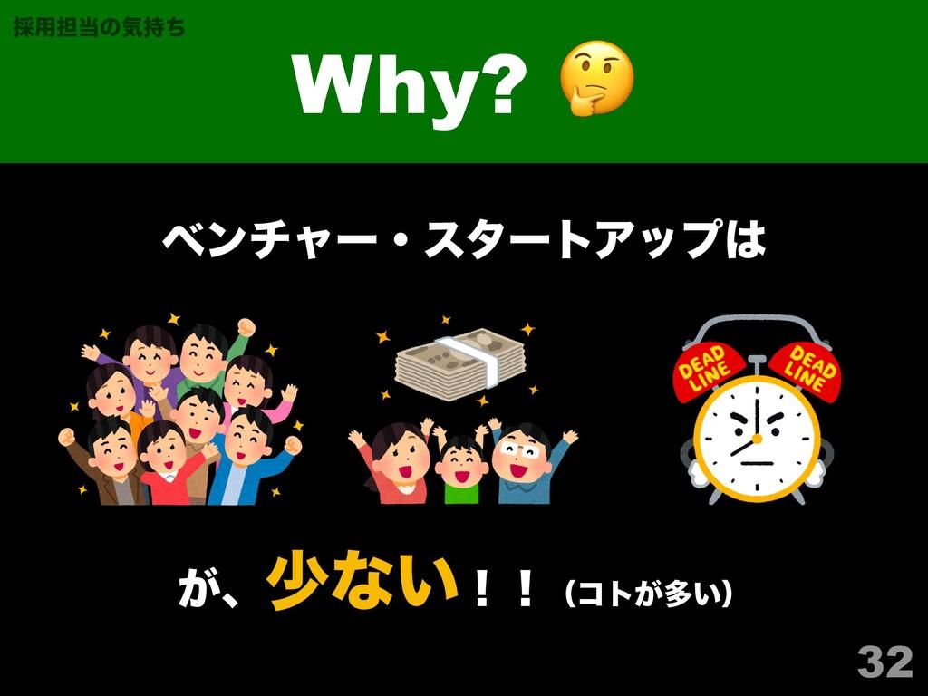 32 Why?  ࠾༻୲ͷؾͪ ϕϯνϟʔɾελʔτΞοϓ ͕ɺগͳ͍ʂʂʢίτ͕ଟ͍ʣ