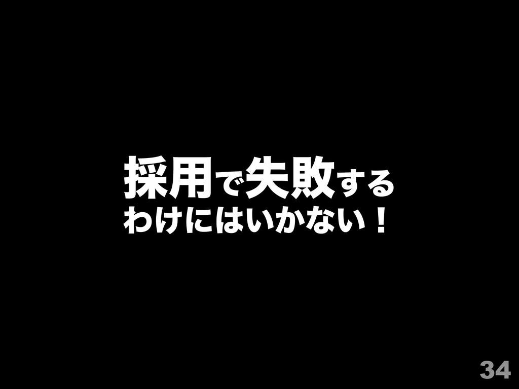 34 ࠾༻Ͱࣦഊ͢Δ Θ͚ʹ͍͔ͳ͍ʂ