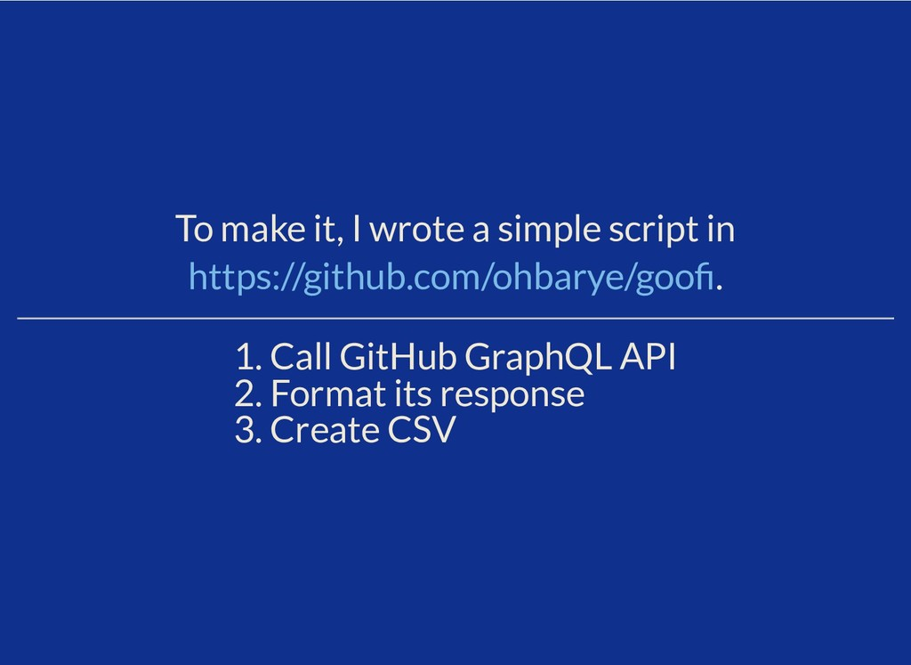 To make it, I wrote a simple script in . 1. Cal...