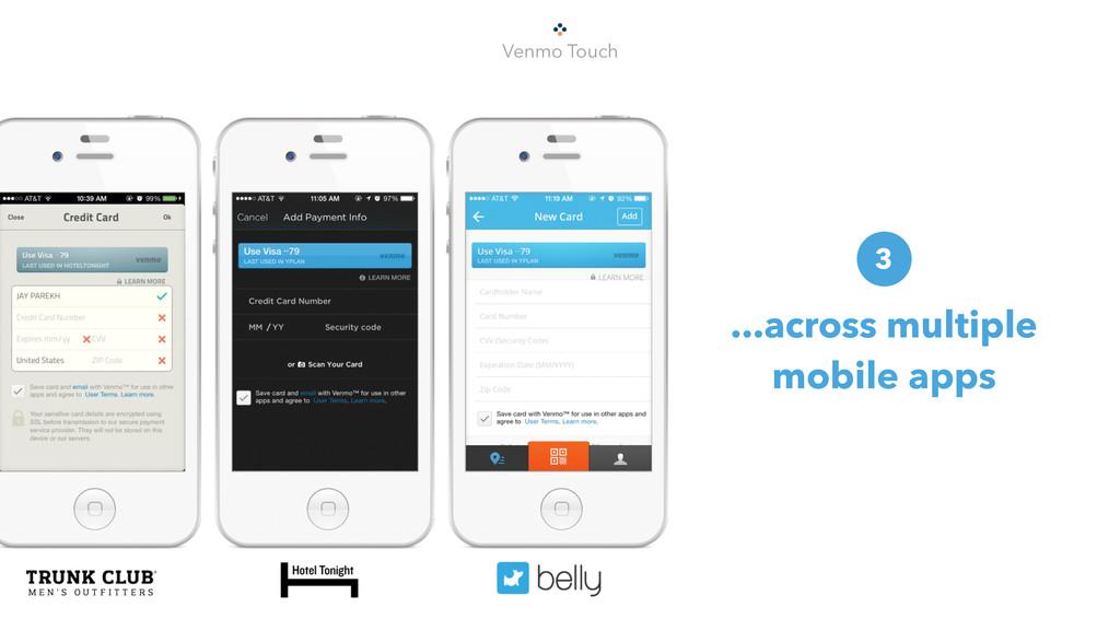Venmo Touch ...across multiple mobile apps 3