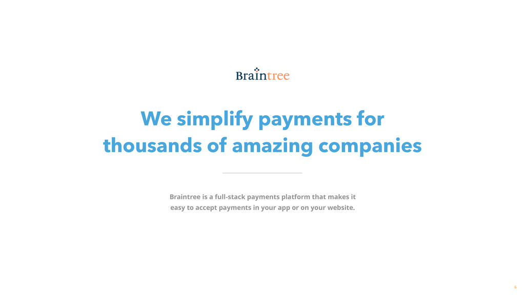 We simplify payments for thousands of amazing ...