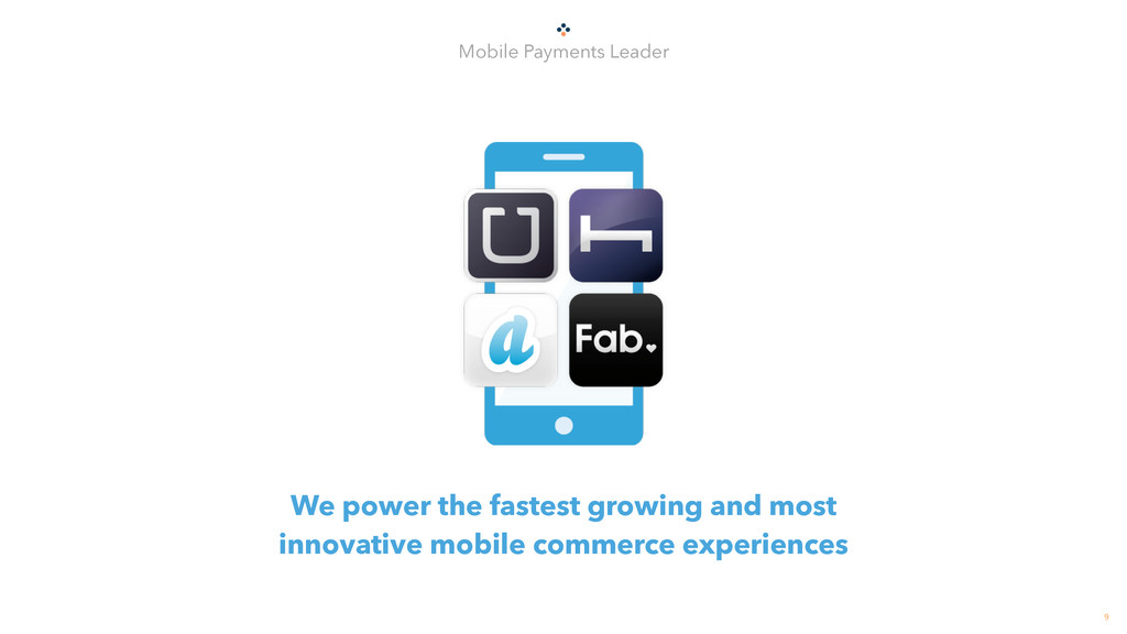 9 Mobile Payments Leader We power the fastest g...