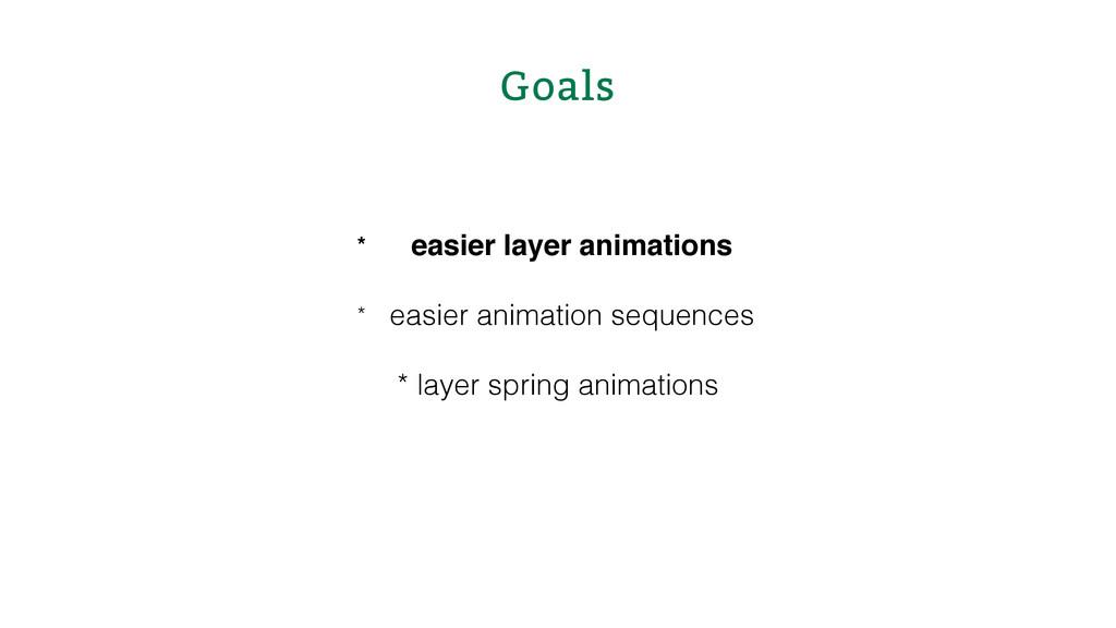 Goals * easier layer animations * easier animat...