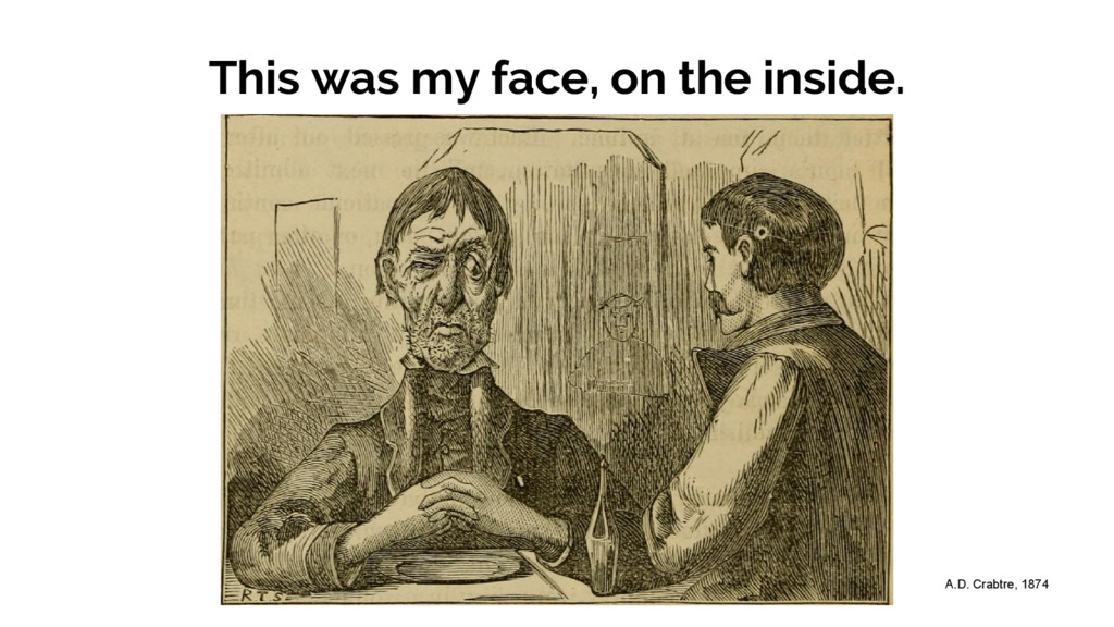 This was my face, on the inside. A.D. Crabtre, ...