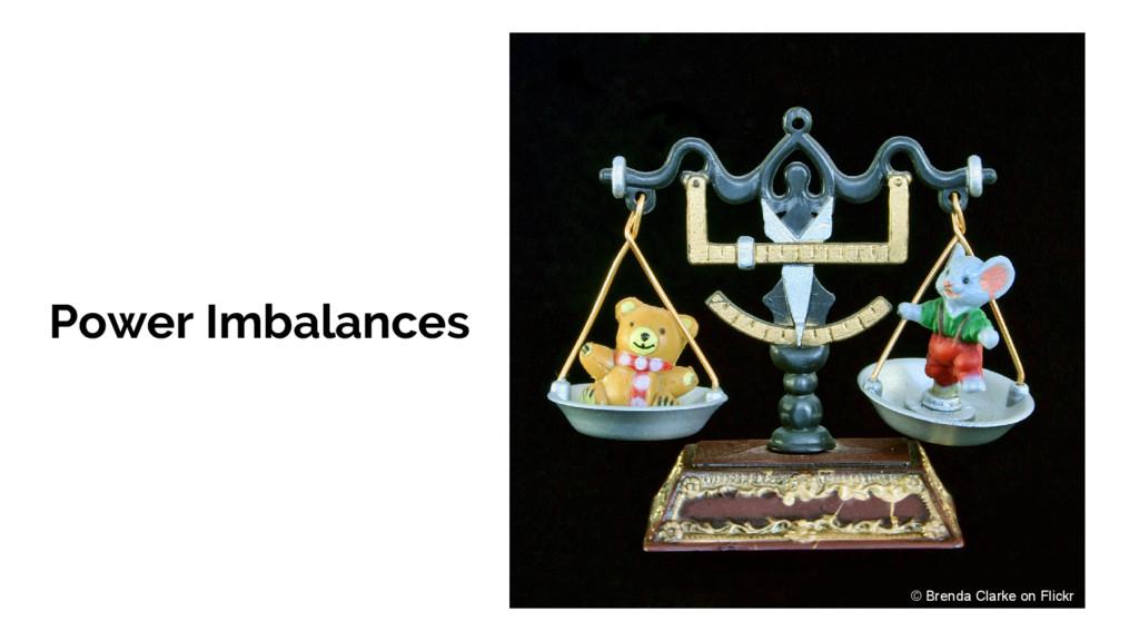 Power Imbalances © Brenda Clarke on Flickr