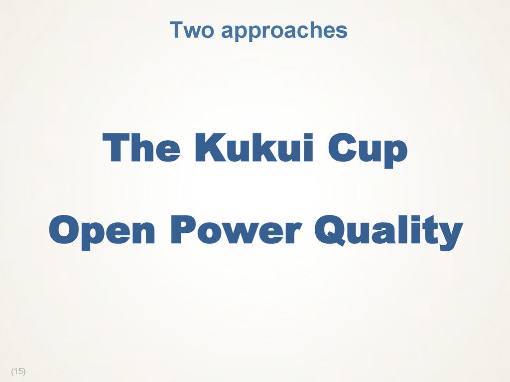 (15) The Kukui Cup Open Power Quality  Two appr...