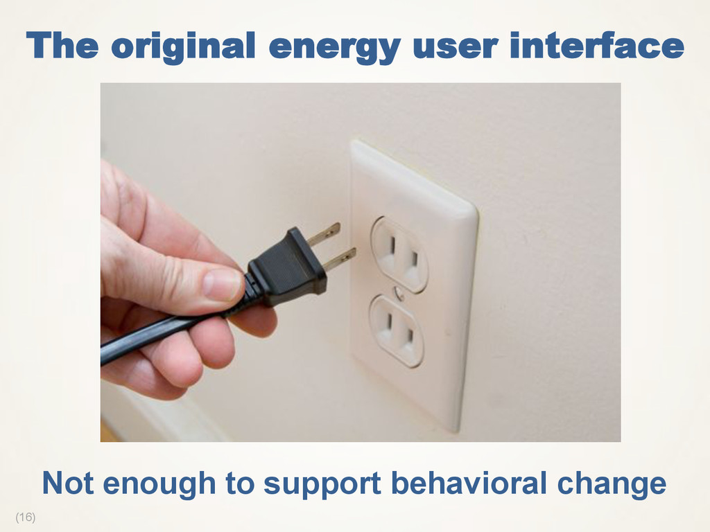 (16) The original energy user interface Not eno...