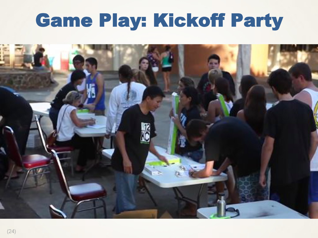 (24) Game Play: Kickoff Party
