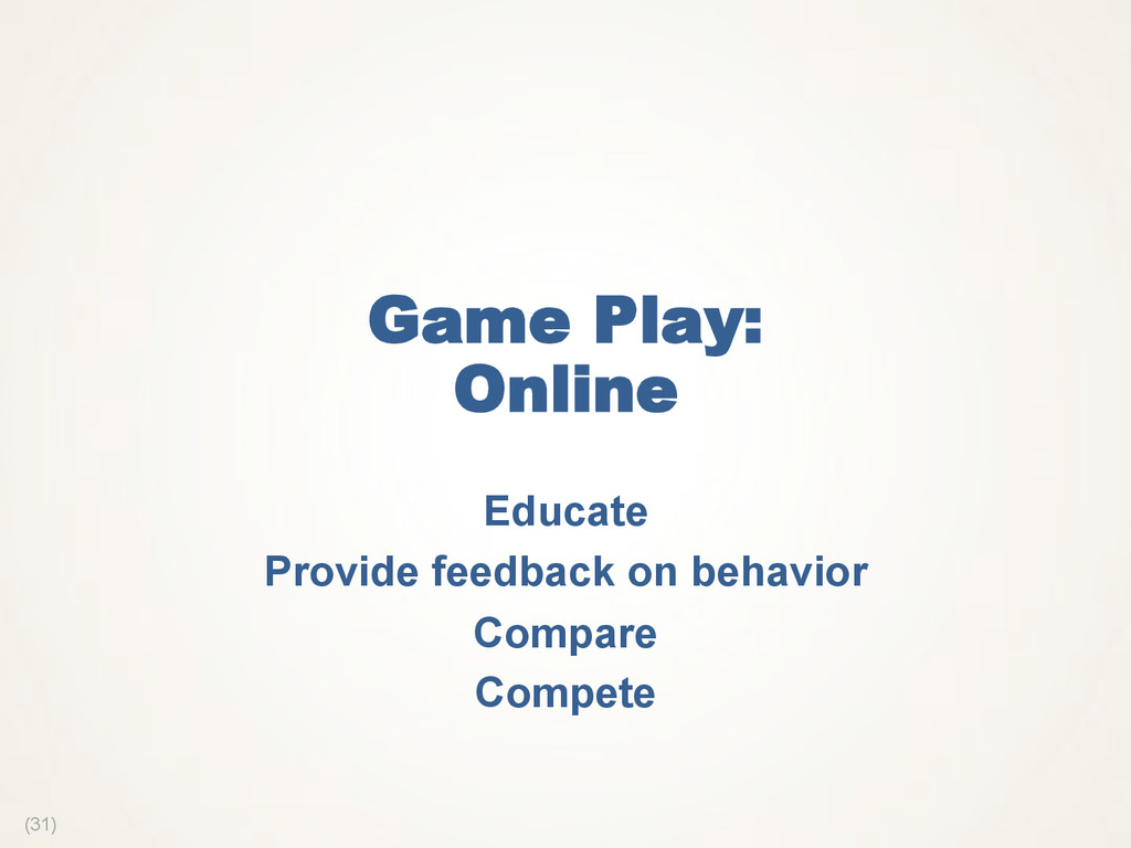 (31) Game Play: Online Educate Provide feedback...