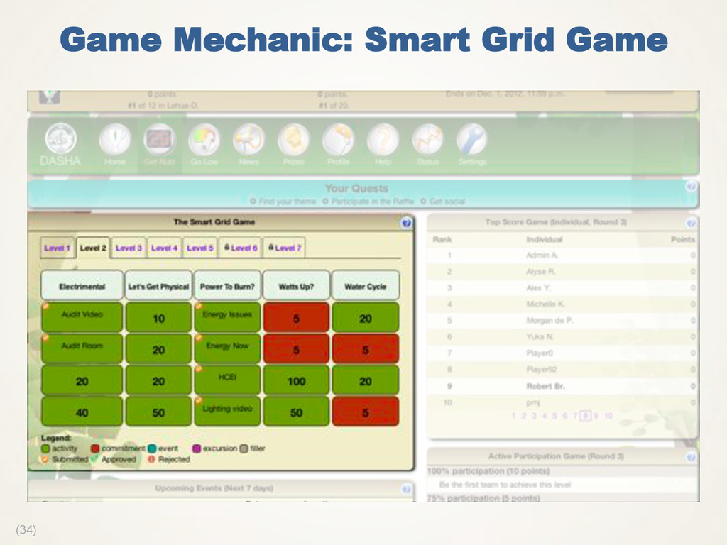 (34) Game Mechanic: Smart Grid Game