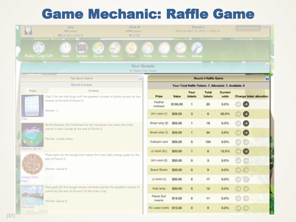 (37) Game Mechanic: Raffle Game