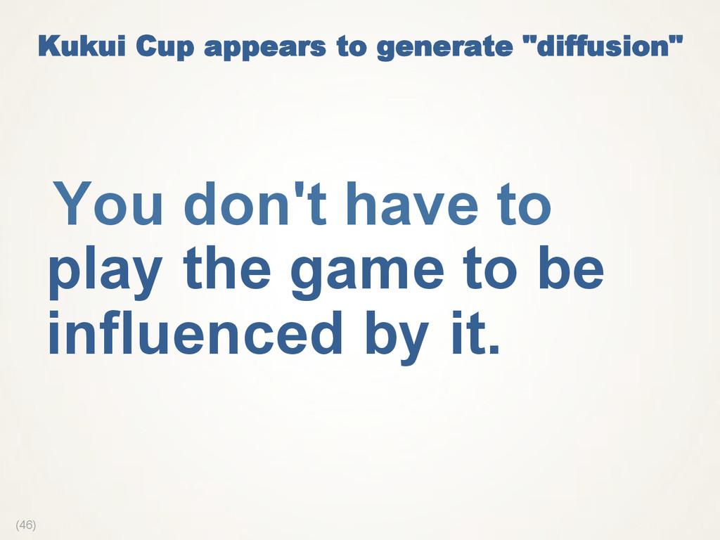 "(46) Kukui Cup appears to generate ""diffusion"" ..."