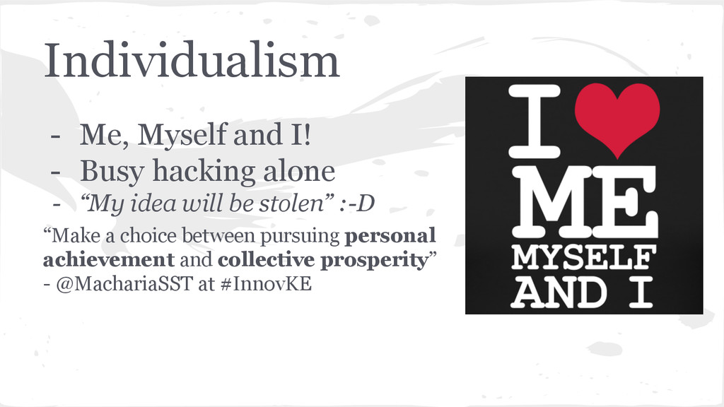 Individualism - Me, Myself and I! - Busy hackin...