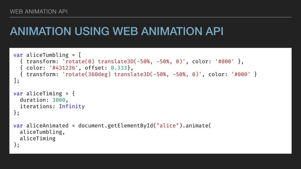 WEB ANIMATION API ANIMATION USING WEB ANIMATION...