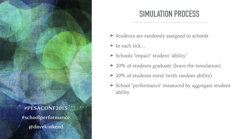 SIMULATION PROCESS ➤ Students are randomly assi...
