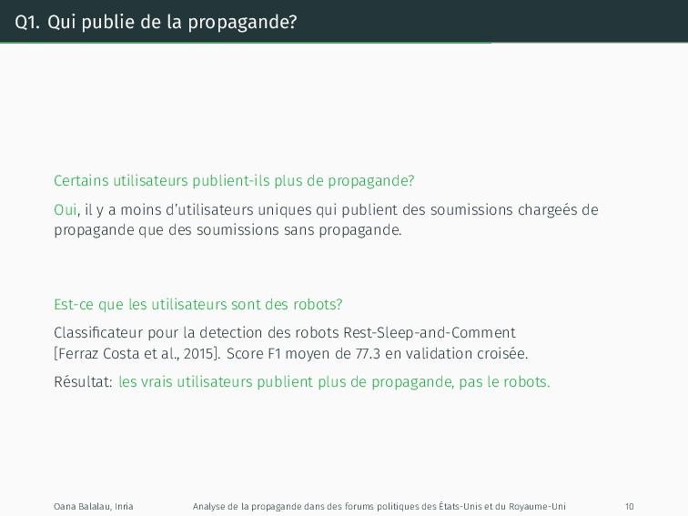 Q1. Qui publie de la propagande? Certains utili...