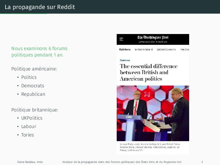 La propagande sur Reddit Nous examinons 6 forum...