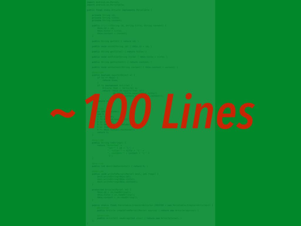 ~100 Lines