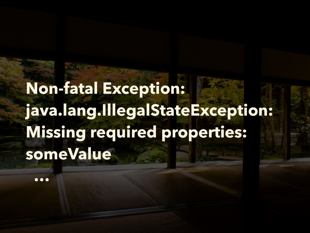 Non-fatal Exception: java.lang.IllegalStateExce...
