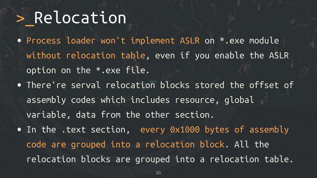 >_Relocation • Process loader won't implement A...