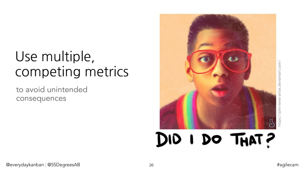 Use multiple, competing metrics @everydaykanban...