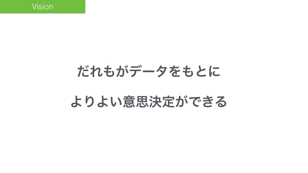 Vision ͩΕ͕σʔλΛͱʹ ΑΓΑ͍ҙࢥܾఆ͕Ͱ͖Δ