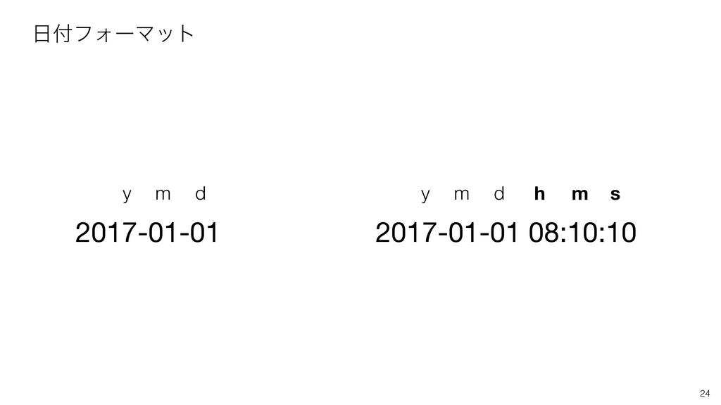 2017-01-01 y m d 2017-01-01 08:10:10 y m d h m ...