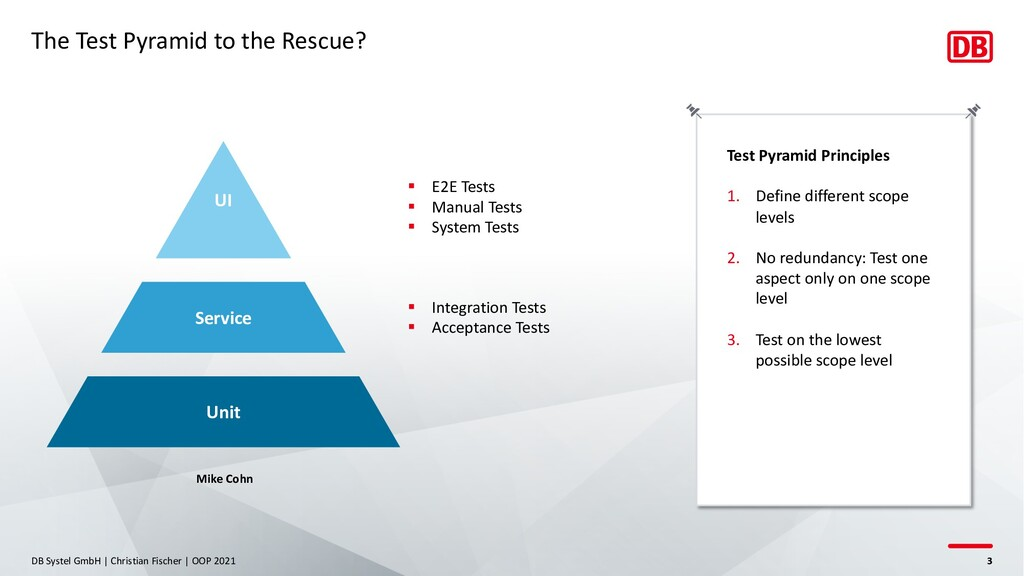 The Test Pyramid to the Rescue? DB Systel GmbH ...
